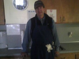 This is Mr. Russell he oftentimes volunteers his time and energy at the food pantry. He will fill in wherever needed.