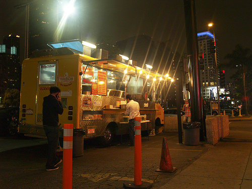 Food truck parking areas can creatr a temptation to overeat.