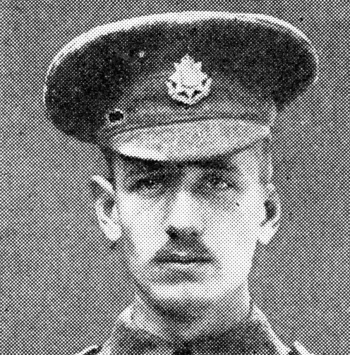 Lance-Corporal E. Dwyer, 1st East Surrey Regiment., awarded the V.C. for heroically throwing grenades on Hill 60.