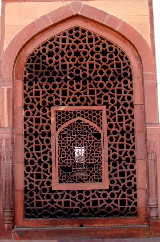 Jali work of Humayun's tomb, Delhi