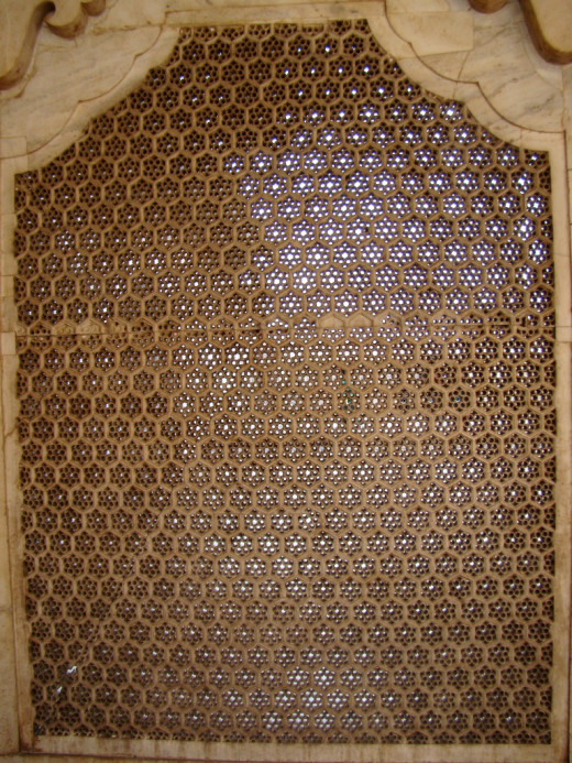 Jali work of Agra Fort 2