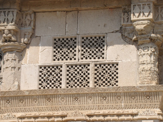 Jali work of Rukmani temple; Dwarka, Gujarat