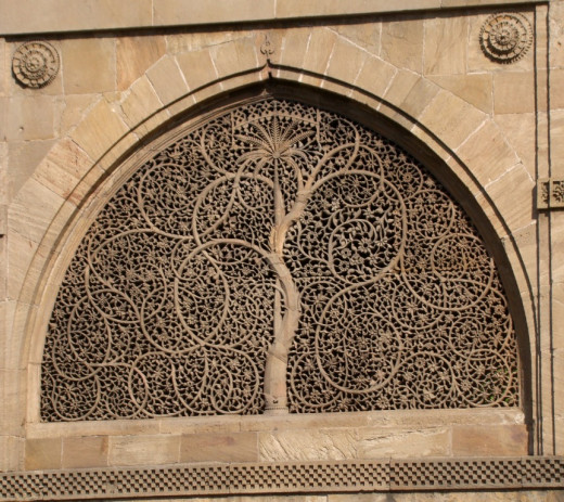 Jali work of Sidi Sayeed Mosque; Ahmedabad, Gujarat 1