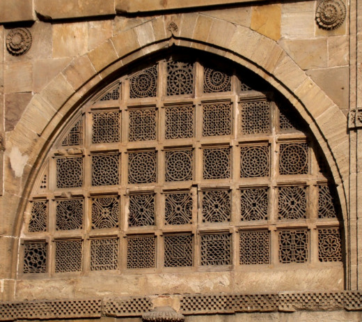 Jali work of Sidi Sayeed Mosque; Ahmedabad, Gujarat 3
