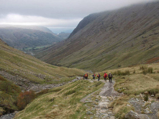 Part of the walk route higher up - still keen?