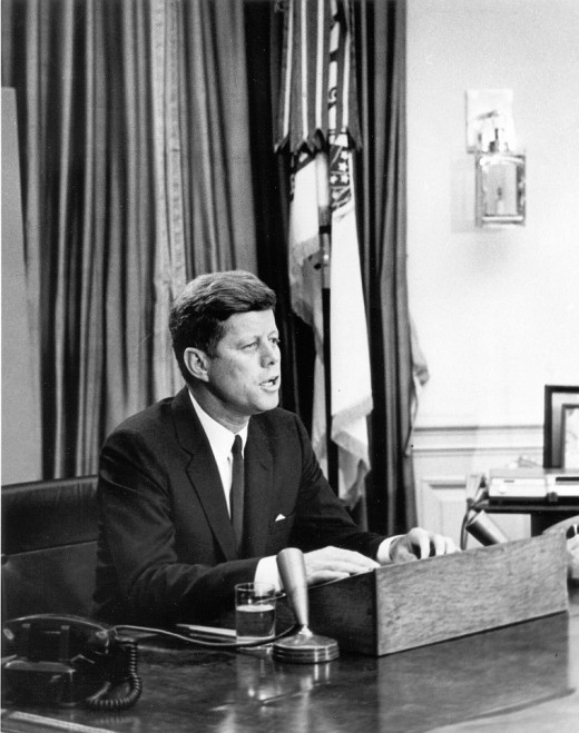 President Kennedy Giving Civil Rights Address in June 1963