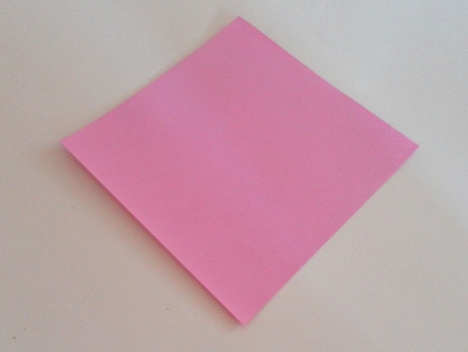 The paper size to use for this origami activity is 10cm by 10cm.