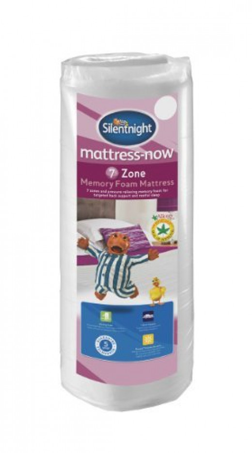 Silentnight 7-zone rolled memory foam mattress