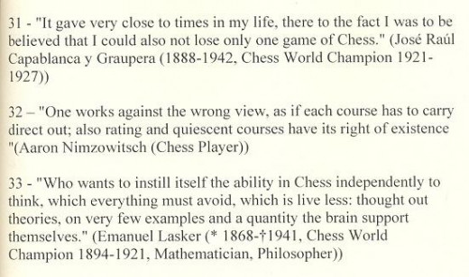 Famous Chess quotes from famous players