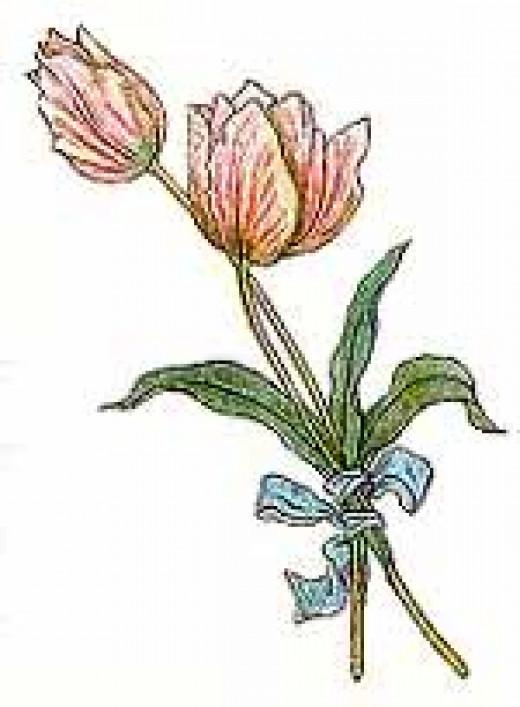 Flower illustration by Kate Greenaway