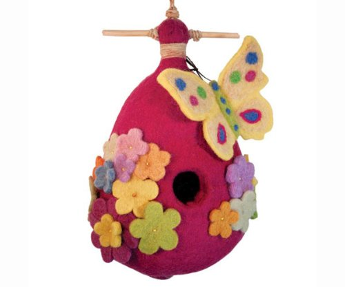 Amazing butterfly felt birdhouse