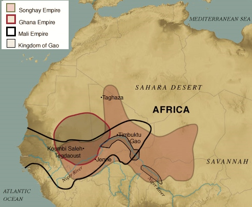 The Rise of West African Empires - A Student Essay | HubPages Map Of Ancient Ghana Empire on map of ancient ghana kingdom, map of ancient ghana trade routes, map of ancient kush empire, map of ancient inca empire, map of ancient assyrian empire, map of ancient kongo empire, fall of ghana empire, map of ancient aztec empire, map of songhay empire, map of axum empire, architecture of ancient ghana empire, map of mali empire, cartoon map of ghana empire, ancient west africa songhai empire, map of ancient oyo empire, map of egypt empire, map of mande empire, people of ghana empire, map of ancient gupta empire,