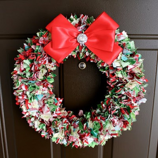 Christmas Rag Wreath DIY
