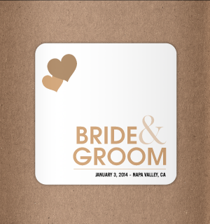 Beaurifuk textured background this vintage wedding koozie will look great on your tables!