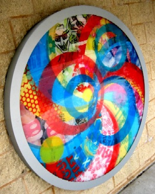Fused plastic art