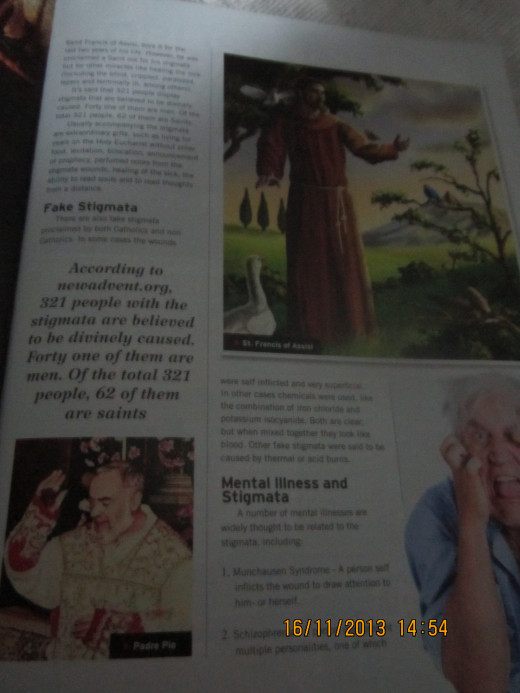 Second page of my article, published in Enrich Magazine, shows photo of Padre Pio.