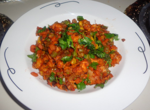 Tasty Vegetable Bread Manchurian is ready to taste