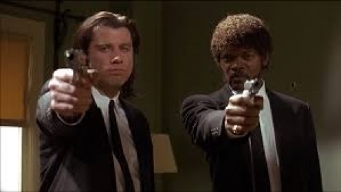 John Travolta and Samuel Jackson were two ruthless killers who worked for Marsellus Wallace.