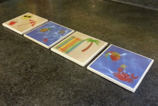 Make custom made tile coasters for your child's teacher.