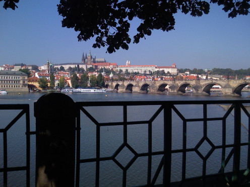 Prague, looking from Old Town toward the castle.