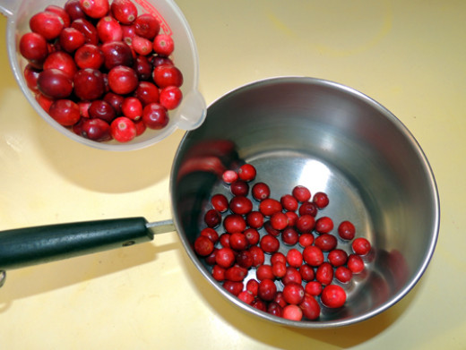 place cranberries in cold pan
