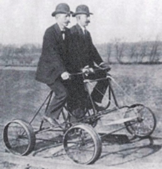 The Railway Cycle Manufacturing Company, based in Hagerstown, manufactured four wheeled bicycles for inspecting railroad tracks