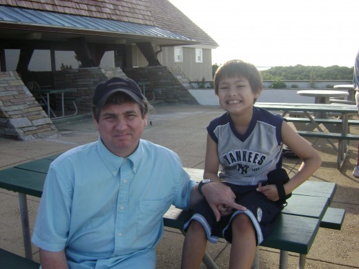 Matty and dad (Pre-Emily)