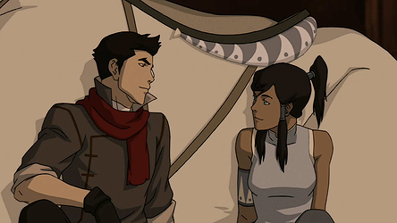 Korra and Mako peacefully break up, deciding to remain lifetime friends and focal teammates.