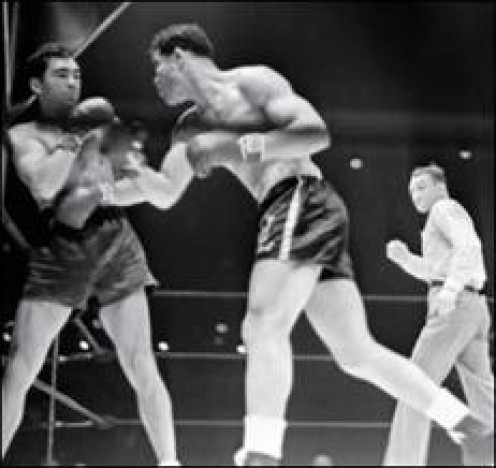 Joe Louis avenges an early career loss by destroying Max Shmeling in one round.