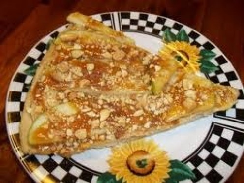 Taffy Apple pizza is a delicious treat for lunch or snack time.