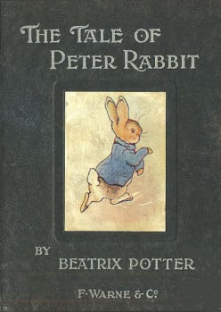"""The Tale of Peter Rabbit,"" (1902) first editon."
