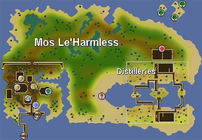 This is the island which the money making method takes place.  The three snakes are located just North of the red minigame symbol on the eastern part of the island.