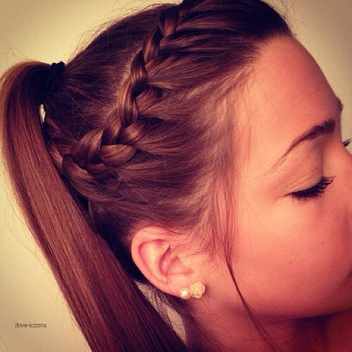 Add a braid to your up-style hairdo.