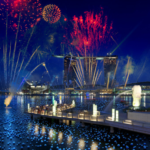 New Year's Eve in Singapore.