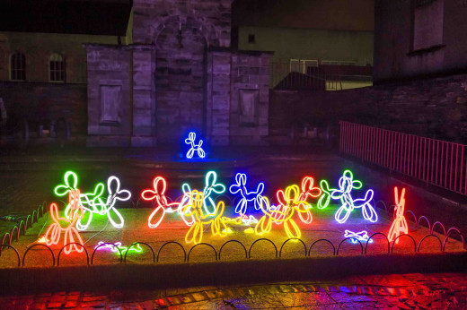 Neon Dogs by NOVAK at the Derry Lumiere light show in November 2013