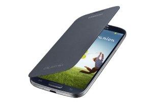 Samsung Galaxy S4 Black Leather Flip Case