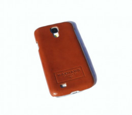 Brown tanned leather Galaxy S4 cover