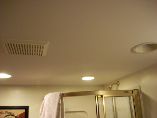 An example of recessed bathroom lights!