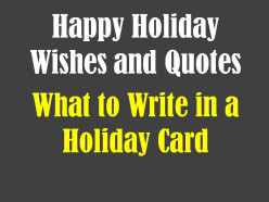 Holiday Card Messages - - Christmas and New Years Greetings