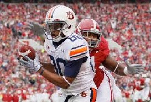 Auburn and Alabama play each other every year in the Iron Bowl.
