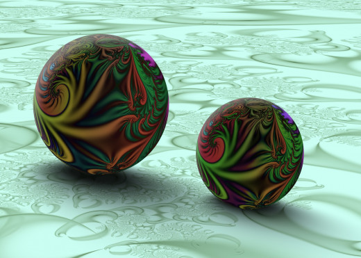 The Ultra-Fractal program makes it easy to create fractal marble scenes.