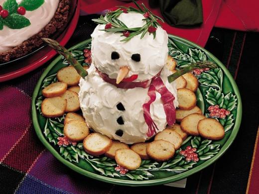 Snowman Cheese Balls
