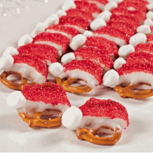 Christmas Santa Pretzels