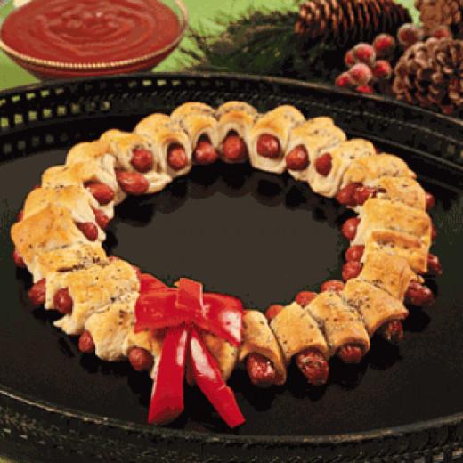 Mini Sausage Wreaths