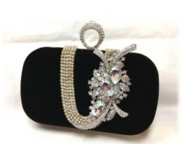 Bridal clutch and jewelry