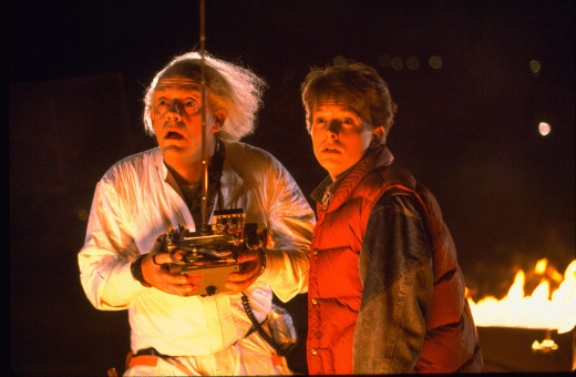 Michael J Fox (right) Christopher Lloyd (left) Back to the future