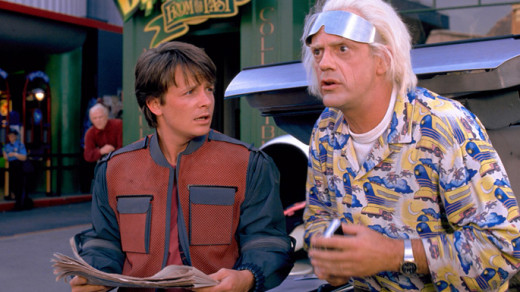 marty and doc brown back to the future part 2