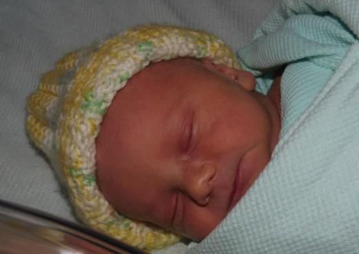 Our beautiful 7lb 10oz baby boy.