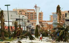 How hurricane Wilma ravaged Cancun before making land fall in the United States.