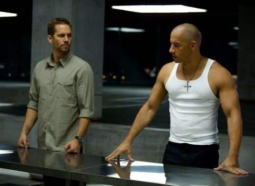 "Paul Walker and Vin Diesel in ""Fast and Furious 6"""